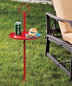 Take It Anywhere Outdoor Tables|These would work great around the #CampFire! #MemorialDay #Lakesidecollection