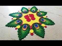जन्माष्टमी स्पेशल रंगोली 2019 - Krishna Janmashtami रंगोली डिज़ाइन – latest rangoli 2019 - YouTube