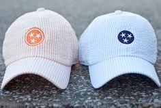 Tennessee Tristar Orange Seersucker Hats - Volunteer Traditions. I want this orange hat so bad!!!