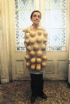 publicartfund: One of our favorite artists in costume - Louise Bourgeois.