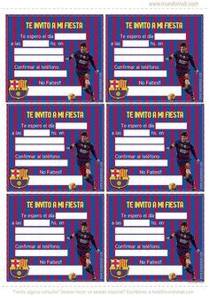 Para los amantes del fútbol y pelota hoy traemos un kit imprimible gratuito de uno de los clubes más seguidos en todo el mundo Barcelona FC.Internet y las comunicaciones actuales han logrado convertir al Barcelona FC en uno de los clubes con mas hinchas o seguidores a nivel global. De ... Soccer Birthday Parties, Football Birthday, Soccer Party, Barcelona Party, Fc Barcelona, Messi Argentina, Soccer Theme, Ideas Para, Birthdays