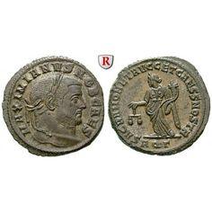 Römische Kaiserzeit, Galerius, Caesar, Follis 300, vz/vz+: Galerius, Caesar 293-305. AE-Follis 27 mm 300 Aquileia. Kopf… #coins #numismatics