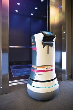 A pint-sized hotel concierge, the A.L.O Botlr, is about to begin its trial run at the upscale, high-tech Aloft Hotel in Cupertino, California.