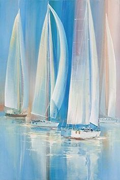 The Sailing Boats Oil Painting 12x18 Inch  30x46 Cm printed On Perfect Effect Canvas this Replica Art DecorativePrints On Canvas Is Perfectly Suitalbe For Nursery Decor And Home Gallery Art And Gifts