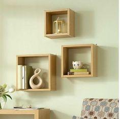Floating-Wall-Cube-Box-Shelf-Shelves-Light-Oak-Dark-Walnut-Set-of-3-Modern