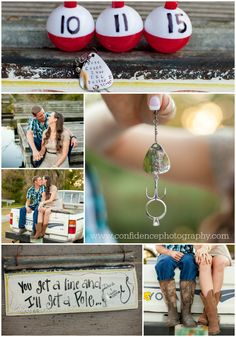 Fishing engagement session- save the date- fishhook-truck-boots-ring shot-Fernandina Beach engagement session by Confidence Photography- engagement and wedding location ideas - Confidence Photography
