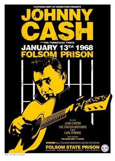 Johnny Cash Serigrafía 2 tintas Edición de 25 ejemplares