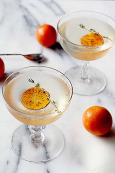 Charred Mandarin Martini recipe