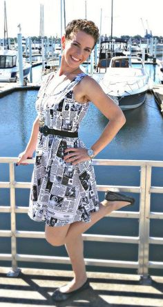 Black and white and cats all over! Check out our Start Spreading the Mews Dress!