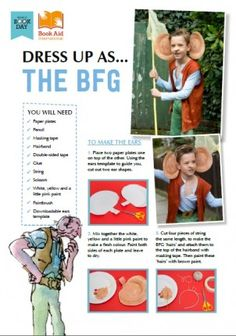 BFG costume kit #WorldBookDay                                                                                                                                                     More