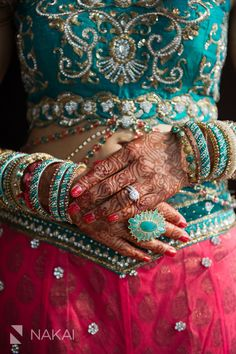 teal and pink reception lehenga..love these two colors together