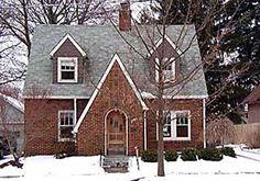 Brick Tudor cottage