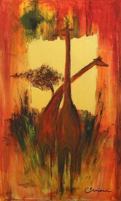 """Saatchi Art Artist Florin Coman; Painting, """"Golden Giraffe"""" #art"""