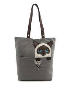 Love this Gray Persian Cat Canvas Tote Bag on #zulily! #zulilyfinds
