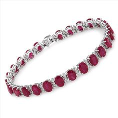 $2,299.00  Amazing Brand New Bracelet With 25.05ctw Precious Stones - Genuine  Clean Diamonds and Rubies in 14K White Gold. Total item weight 19.3g  Length 7.5in - Certificate Available.