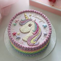 Cake Unicorn Ideas Birthdays Ideas For 2019 Unicorn Themed Birthday Party, Birthday Cake Girls, Unicorn Birthday Cakes, Birthday Ideas, Little Pony Cake, Buttercream Cake, Savoury Cake, Cake Designs, Cupcake Cakes
