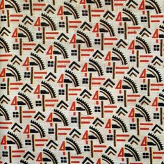 Soviet textiles, machinery pattern