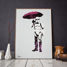 """Hos Gallerome.com kjøper du designerplakater bilder og kusntplakater fra skandinaviske og internasjonale kunstnere. På bilde ser du plakaten """"Storm""""."""