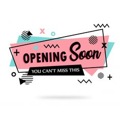 Opening soon banner PNG and Vector Logo Online Shop, Shop Logo, Marketing Colors, Book Background, Vector Background, Feeds Instagram, Clothing Logo, Startup, Banner Vector