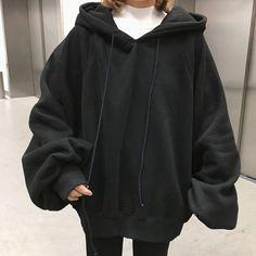 Black Hoodie Outfit, Oversized Hoodie Outfit, Sweater Hoodie, Basic Hoodie, Moda Casual, Cute Casual Outfits, Hoodies, Sweatshirts, Winter