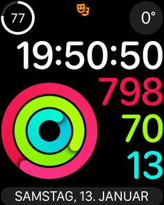 #kernwerk #app #workout zum #samstag #abend #erfolgreich #beendet 💪🏻 und #nebenbei #alle3ringe #geschlossen ✌🏻#applewatchseries3 #instafit #instasport #sport #motivation #bewegung #abnehmen #abnehmen30de