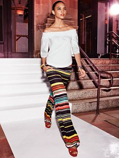 Shop Palazzo Pant - Stripe. Find your perfect size online at the best price at New York & Company.