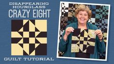 Make a Disappearing Hourglass Crazy Eight Quilt with Jenny Doan of Missouri Star (Video Tutorial) Quilting Classes, Quilting Tips, Quilting Tutorials, Quilting Designs, Crazy Quilting, Msqc Tutorials, Machine Quilting, Quilting Projects, Sewing Projects