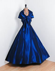 """Blue, blue, blue.    """"Beautiful portrait collar saphire blue off the shoulder dress, ...wore one like this to the wedding!""""  Ahhhh....had a wonderful time!"""