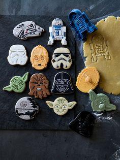 Williams Sonoma Star Wars™ 8-Piece Cookie Cutter Set | Includes: Yoda, Darth Vader, C-3PO, R2-D2, Chewbacca, Stormtrooper, Millennium Falcon and Death Star.