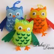 Owl bean bag sewing pattern