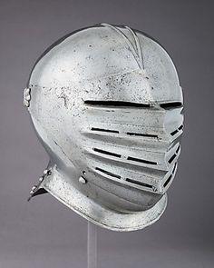 Helmet Date: ca. 1510 Culture: German Medium: Steel Dimensions: H. Early Modern Period, Knights Helmet, Knight Armor, Medieval Armor, Classic Image, Museum Collection, Headgear, Metropolitan Museum, Riding Helmets