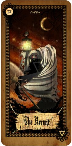 Tarot card - The Hermit by CottonValent.deviantart.com  (I love this guy's style!)