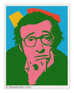 Woody Allen by Andy Warhol Keith Haring, Pittsburgh, Warhol Paintings, Pop Art, Andy Warhol Art, Photo Star, Poster On, Print Poster, Woody Allen