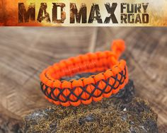 Mad Max Paracord Bracelet with Micro-Cord stitching