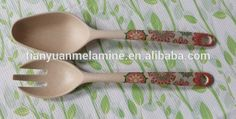 2016 Hot Sales Bambpp Fibre Melamine Spoon And Fork With Decals - Buy 100% Melamine Fork And Spoon,Bamboo Melamine Fork And Spoon,Bamboo Fibre Salad Spoon And Fork Product on Alibaba.com