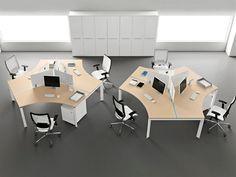astonishing laminate fabric curve edge workstation design ideas ...