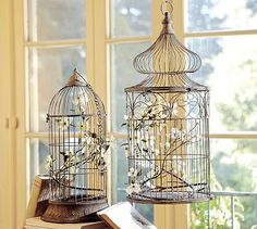 bird cages--oooooo so THAT'S what I'll put inside them!