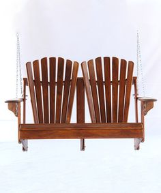 Loving this Double Back Teak Love Seat Swing on #zulily! #zulilyfinds