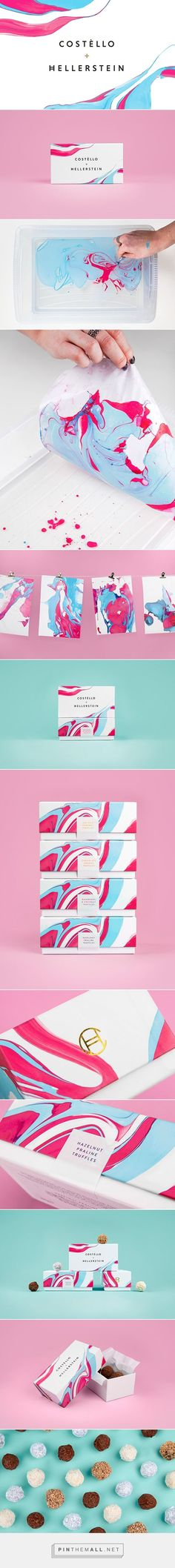 Beautiful swirl art gives this packaging by Robert Food an eye-catching splash of color!