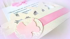 MagicArt / Pokrstiť sa idem dať :) Handmade Invitations, Make Your Own Invitations