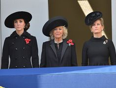 13 November 2016 - The British Royals attend the Remembrance Sunday Service in London - coat by Diane Von Furstenberg