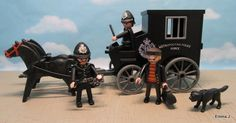 This is my latest Victorian creation a Police wagon with custom Police officers and villain. SOLD