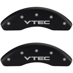 Set of 4 MGP Caliper Covers 20103Svtcmb, Engraved Front and Rear: Vtech, Matte Black Powder Coat Finish, Silver Characters