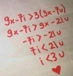 """My inner math nerd heart just exploded a little. Then my actual math nerd said read it out loud. """"I is less than 3 of u"""" Math Jokes, Math Humor, Funny Math, Nerd Humor, Algebra Humor, Dog Jokes, Algebra 2, Nerd Love, Love Letters"""