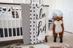 Whimsical Black and White Nursery, with a Woodland themed twist!