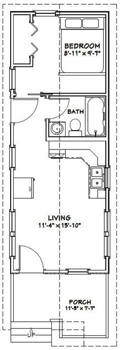 12x32 tiny house --  12x32h1 -- 384 sq ft