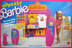 Beach Blast Barbie Surf 'n Shop Barbie 80s, Barbie Doll Set, Beautiful Barbie Dolls, Barbie Dream, Vintage Barbie Dolls, Barbie World, Ever After High, Monster High, 1980s Childhood