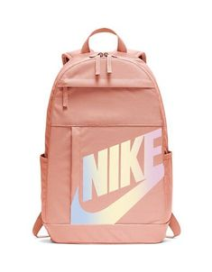 Nike Element Logo Backpack In Coral Stardust Nike School Backpacks, Cute Backpacks For School, Girl Backpacks, Leather Backpacks, Leather Bags, Canvas Backpacks, Bags For Teens, School Bags For Girls, Girls Bags