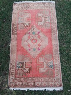 Small turkish rug, oushak rugs, vintage small rug, entry decor mat rugs, bed side rugs, door mat rug, bathroom rug, bedroom small rug, 19×33, 53×100cm Bathroom Rugs, Master Bathroom, Oushak Rugs, Bedroom Small, Grey Rugs, Small Rugs, Bohemian Rug, Door Entry, Mini