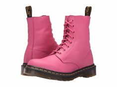 Women's Shoes Dr. Martens Pascal 8 Eye Boots 20102670 Hot Pink Virginia *New* #DrMartens #FashionAnkle
